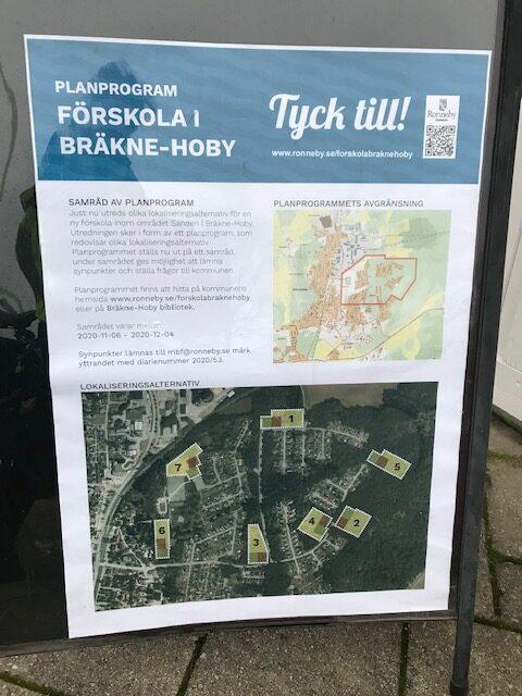 Planprogram för ny förskola i Bräkne Hoby